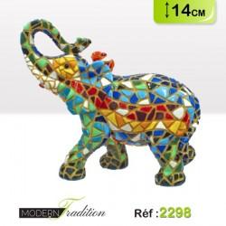 ELEPHANT MOSAIQUE 14cm