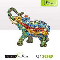 ELEPHANT MOSAIQUE 9cm