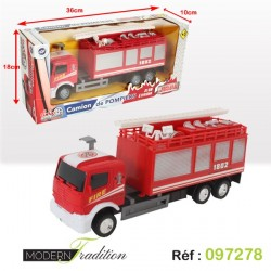 CAMION POMPIERS 31cm FRICTION