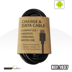 EASY TO SELL-Cable micro USB noir 1m