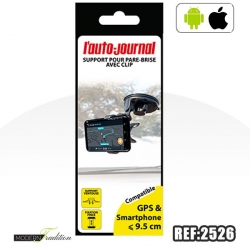 AJ-SUPPORT UNIVERSEL TELEPHONE VENTOUSE PINCE